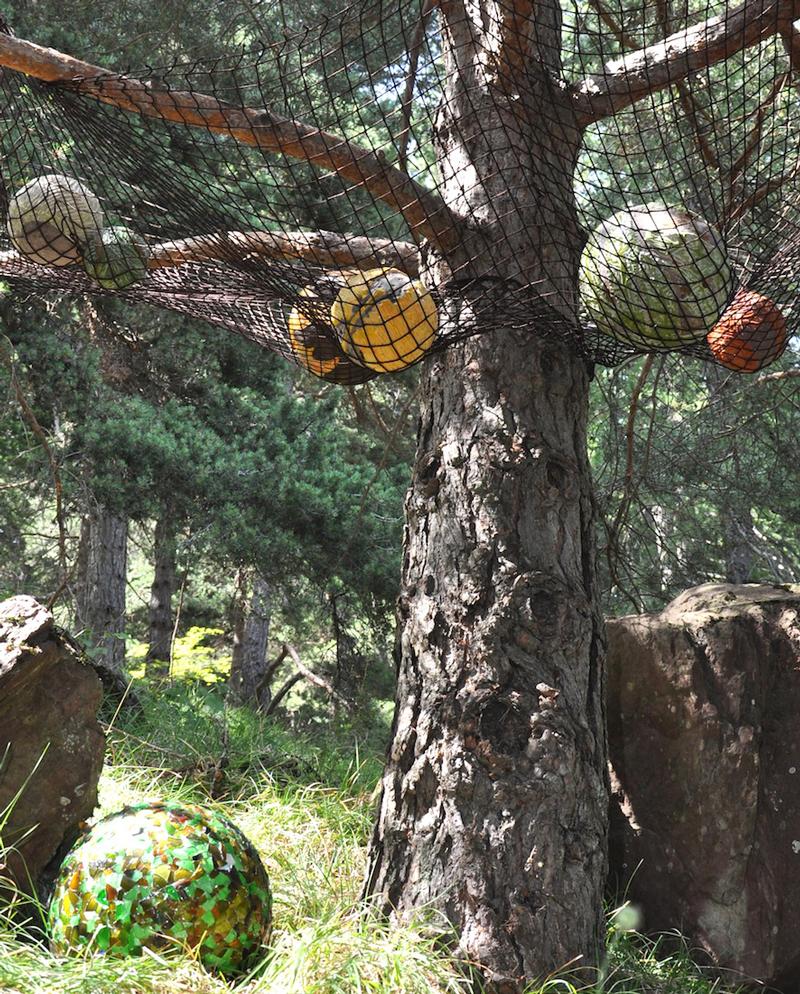 Caterina Aicardi, opere, scultura, natura, art, scultura, glass, relazioni, sfere, v resina, polistirolo, rete cemento, vetro, resina, ferro, albero, tutto, unione
