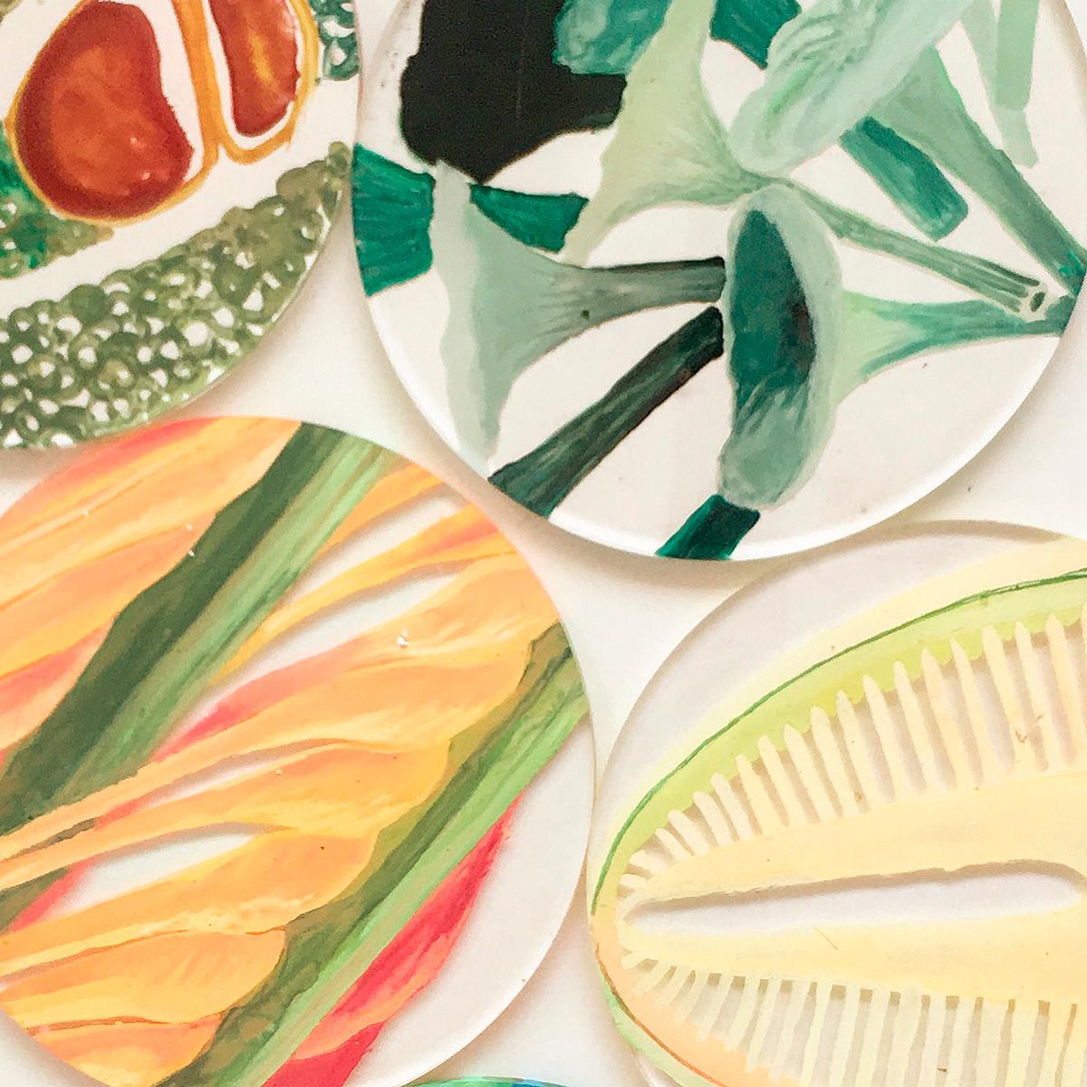 Caterina Aicardi, opere, scultura, natura, art, vetrini, piante, pittura