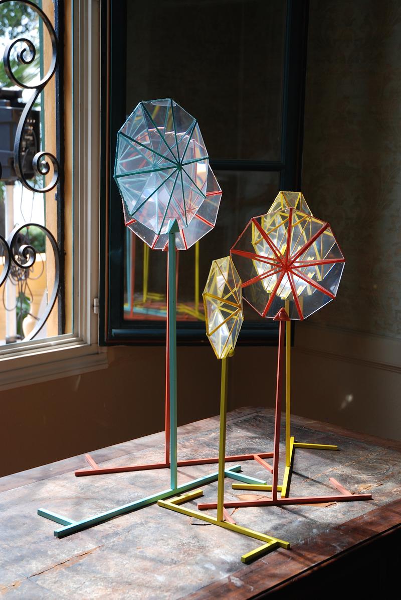 Caterina Aicardi, opere, scultura, natura, art, scultura, glass, vetro, lanternini, caleidoscopio, gioco, luce, riflesso